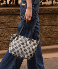 LOEWE / anagram gray mini hand bag.