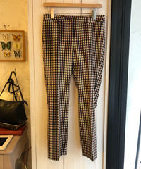Max Mara/ check taperd slacks.