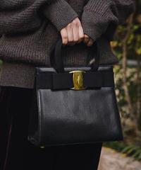 Salvatore Ferragamo/ vintage leather mini handbag.