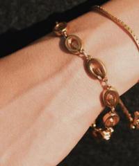GIVENCHY/ vintage gold  G logo  bracelet