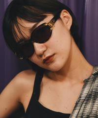 Yves Saint Laurent / vintage circle design sunglasses.(U)