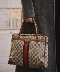 GUCCI / vintageGG Monogram square handbag .