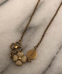 Chloe/vintage clover motif design necklace.