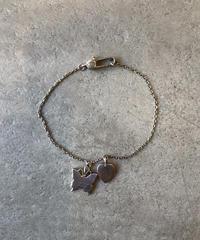GUCCI/vintage heart×butterfly motif bracelet.