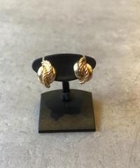 Christian Dior /vintage gold twist earring .