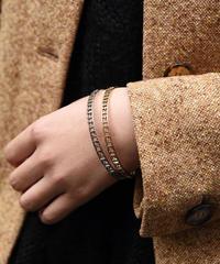 FENDI/ vintage zucca  bracelet silver and gold.