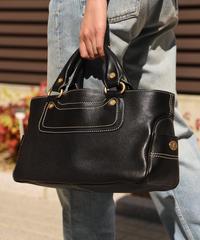 CELINE  / vintage boogie bag.(black)