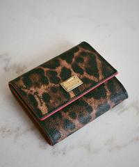 D&G/ Leopard Tri-fold wallet