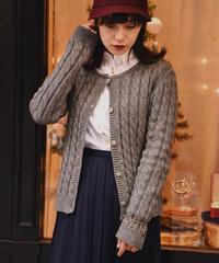A.P.C. / round neck knit cardigan.