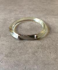 Salvatore Ferragamo/vintage design clear  bracelet.