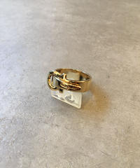 Salvatore Ferragamo /gold gantini  scarf ring