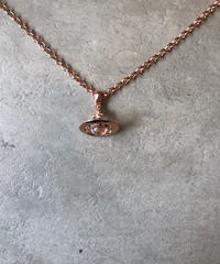 Vivienne Westwood/vintage pink orb motif necklace.