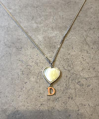 "Christian Dior/vintage heart ""D""logo necklace"