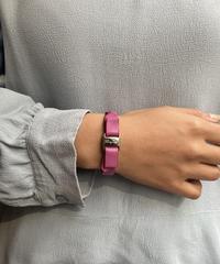 Salvatore Ferragamo/vintage vara ribbon leather bracelet . (pink) (U) 3