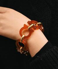 Salvatore Ferragamo/vintage gantini plastics  chain bracelet.
