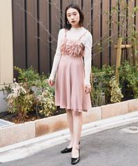 MOSCHINO/ frill slip dress.