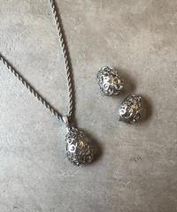 Yves Saint Laurent/ vintage design silver  necklace, earrings