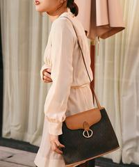 Christian Dior/vintage logo PVC leather shoulder bag.