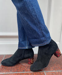 See by Chloe / designed heel suede short boots.