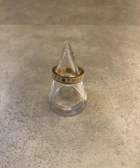 MARC BY MARC JACOBS/ gold ×white logo ring.