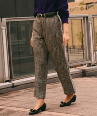 tricot COMMEdesGARCONS/houndtooth pattern wool pants.