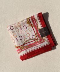 CELINE/vintage red macadam handkerchief.