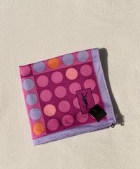 Yves Saint Laurent/vintage dot design  handkerchief.(P)