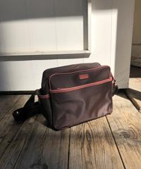agnes b/bi-color nylon shoulder bag.415020 C