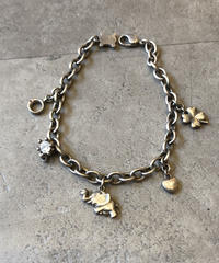 CELINE/vintage charm silver  bracelet.(U)