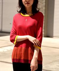 Yves Saint Laurent /short sleeve long length knit.