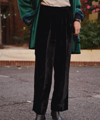 Givenchy / vintage velour wide pants.