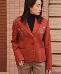 KENZO/ vintage flower wool jacket.