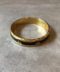 LOEWE/vintage gold logo motif bracelet.(S)