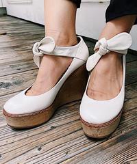 Chloe  /vintage  wood heel ribbon sandal*youtube掲載商品