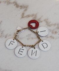 FENDI/ plate logo bracelet