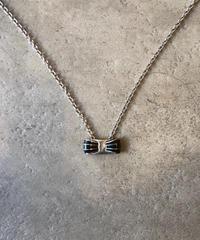 Salvatore Ferragamo/vintage ribbon motif necklace.