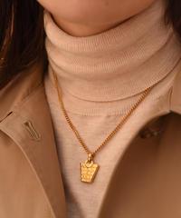 CELINE/ vintage bag motif necklace.(P)