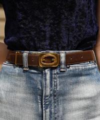 GUCCI/vintage GG logo leather belt.