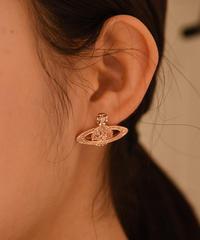Vivienne Westwood/ vintage orb stone pierce.