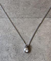 courreges/vintage bijou stone  logo  necklace