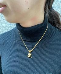 Courreges/ vintage logo perl  necklace.(U)14