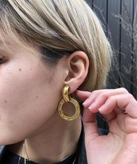 CELINE/vintage round 2way earring .  430011T