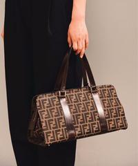 FENDI/zucca pattern hand bag.