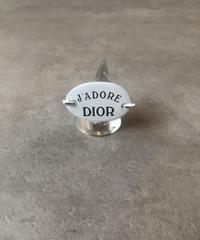 Christian Dior/vintage logo motif ring.(心斎橋)