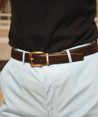 Givenchy/Gold backle leather belt.