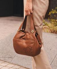 LOEWE  /  vintage leather hand bag.