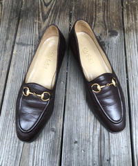 GUCCI/pointed toes horse bit loafer(BRW×G)(U)