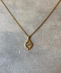 "nina ricci/vintage silver×gold ""NR"" logo necklace."