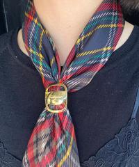 Salvatore Ferragamo/ vintage vara scarf ring.  (gold)