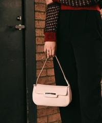 BVLGARI/ leather hand bag.